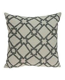 Cora Transitional Beige Pillow Cover With Down Insert
