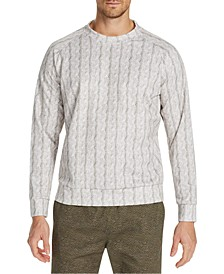 Men's Slim-Fit Stretch Cable Stitch Print Sweat Shirt