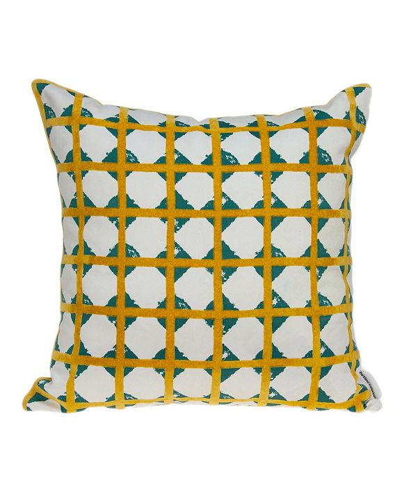 Parkland Collection Gola Contemporary Multicolor Pillow Cover With Down Insert