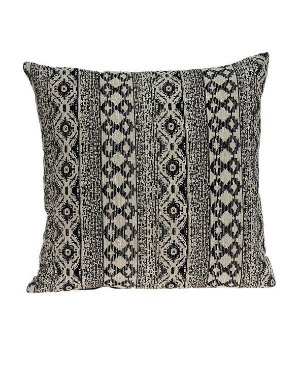 Parkland Collection Kanta Transitional Beige Pillow Cover with Polyester Insert
