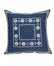 Ronak Traditional Blue Pillow Cover with Polyester Insert