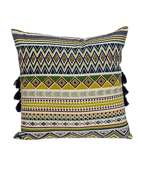 Parkland Collection Irisa Bohemian Multicolor Pillow Cover With Down Insert