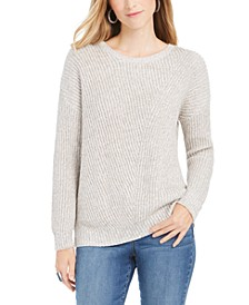 Petite Drop-Sleeve Ribbed Sweater, Created For Macy's