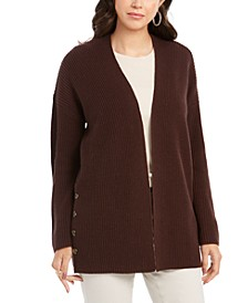 Button-Side Oversized Cardigan, Created For Macy's