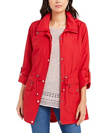 Mock-Neck Utility Jacket, Created for Macy's