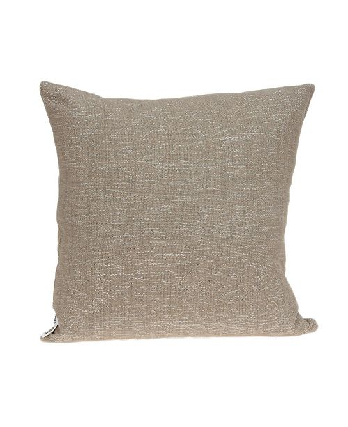 Parkland Collection Damon Transitional Tan Pillow Cover with Polyester Insert