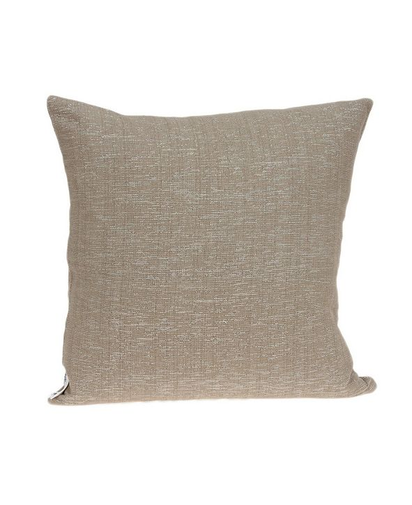 Parkland Collection Damon Transitional Tan Pillow Cover With Down Insert