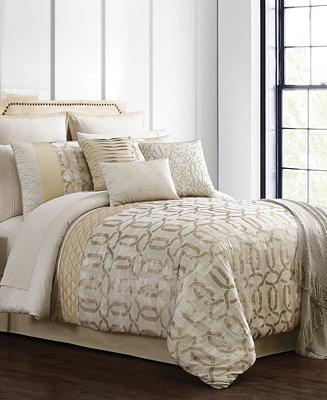 Hallmart Collectibles Hedron 14 Pc Queen Comforter Set