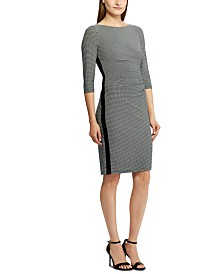 Lauren Ralph Lauren Petite Ruched Jersey Dress