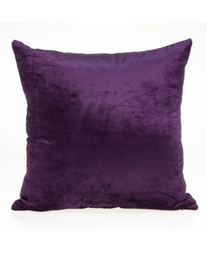Parkland Collection ALBA TRANSITIONAL PURPLE SOLID PILLOW COVER WITH POLYESTER INSERT