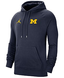 Jordan Men's Michigan Wolverines Travel Hooded Sweatshirt