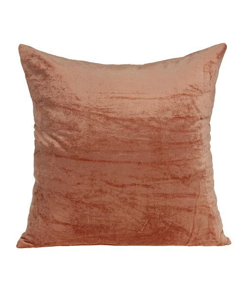 Parkland Collection Sunstone Transitional Orange Solid Pillow Cover With Down Insert