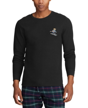 Polo Ralph Lauren Tops MEN'S BIG EMBROIDERED WAFFLE CREWNECK SLEEP SHIRT, CREATED FOR MACY'S