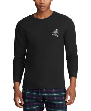 Polo Ralph Lauren T-shirts MEN'S BIG EMBROIDERED WAFFLE CREWNECK SLEEP SHIRT, CREATED FOR MACY'S