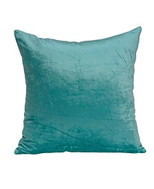 Camila Transitional Aqua Solid Pillow Cover