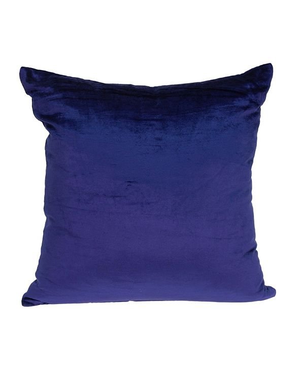 Parkland Collection Topaz Transitional Royal Blue Solid Pillow Cover with Polyester Insert