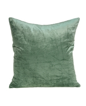 Parkland Collection Pillows CHARLOTTE TRANSITIONAL GREEN SOLID PILLOW COVER WITH POLYESTER INSERT