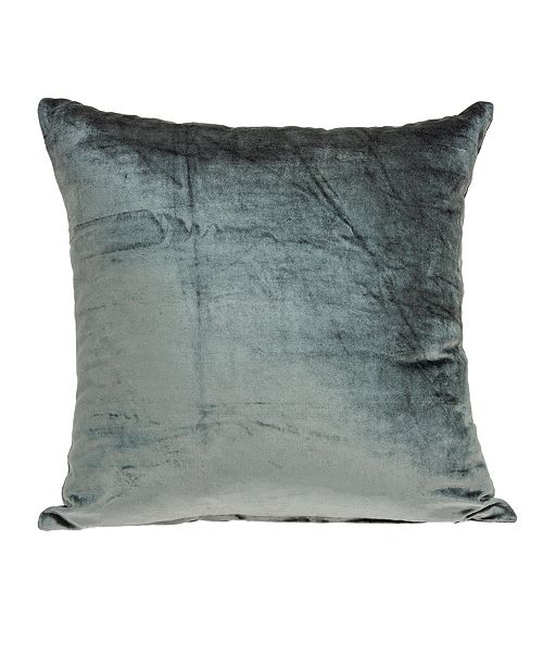 Parkland Collection Garnet Transitional Charcoal Solid Pillow Cover With Down Insert