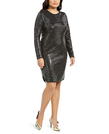 Trendy Plus Size Sequined Bodycon Dress
