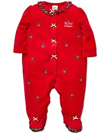 Baby Girls Holly Plaid Footed Coverall