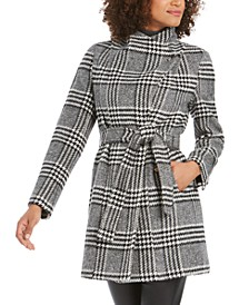 Petite Belted Toggle Wrap Coat