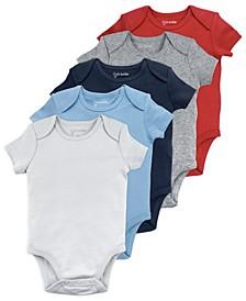 Baby Boy 5-Pack Short Sleeve Bodysuits