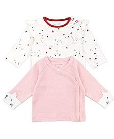 Mac & Moon Baby Girl 2-Pack Long Sleeve Fashion Tops