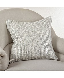"Cassandra Metallic Brushed Knit Throw Pillow, 20"" x 20"""