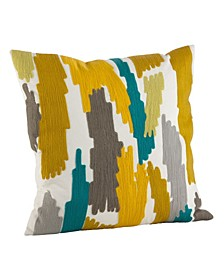 "Bright Brushstroke Throw Pillow, 20"" x 20"""