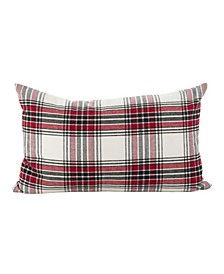 "Tartan Plaid Pattern Traditional Cotton Throw Pillow, 12"" x 20"""