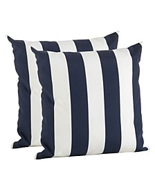 """Striped Pillow - Cover Only, Set of 2, 17"""" x 17"""""""