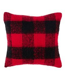 """Faux Mohair Plaid Design Accent Throw Pillow, 20"""" x 20"""""""