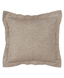 """Hemstitched Trimmed Polyester Filled Throw Pillow, 22"""" x 22"""""""