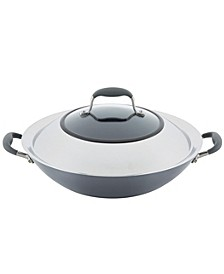 "Advanced Home Hard-Anodized 14"" Nonstick Wok with Side Handles"