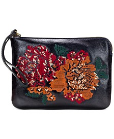 Patricia Nash Cross-Stitch Cassini Wristlet
