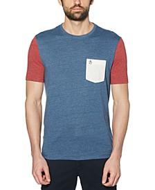 Men's Slim-Fit Colorblocked Pocket T-Shirt