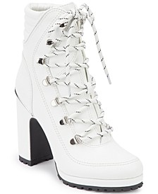 Women's Lenni Lace-Up Booties , Created For Macy's