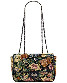Woven Floral Tapestry Lorenza Satchel