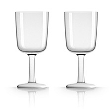 by Palm Tritan Wine Glass with white non-slip base, Set of 2
