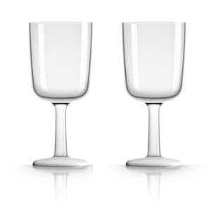 Marc Newson by Palm Tritan Wine Glass with white non-slip base, Set of 2