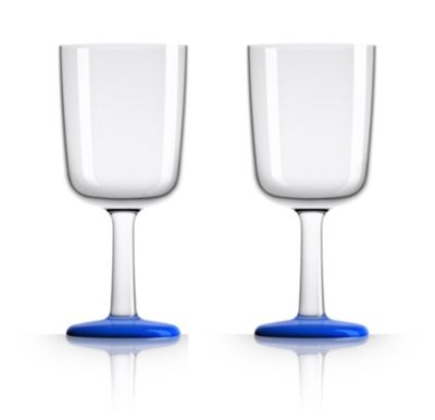 by Palm Tritan Wine Glass with Klein Blue non-slip base, Set of 2