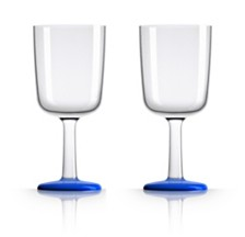 Marc Newson by Palm Tritan Wine Glass with Klein Blue non-slip base, Set of 2