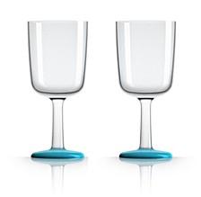 by Palm Tritan Wine Glass with Vivid Blue non-slip base, Set of 2