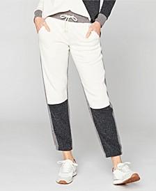 Drawstring Straight Leg Colorblock Sweatpants