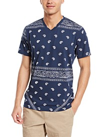Men's Blocked Bandana T-Shirt, Created for Macy's
