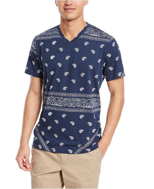 American Rag Men's Blocked Bandana T-Shirt, Created for Macy's