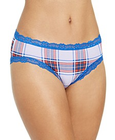 Women's Printed Lace-Trim Hipster Underwear, Created For Macy's