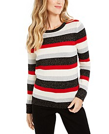 Petite Striped Sweater, Created For Macy's
