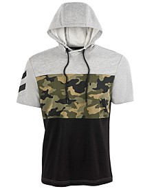 Men's Camo Colorblocked Short-Sleeve Sweatshirt, Created for Macy's