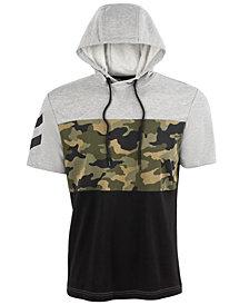 ID Ideology Men's Camo Colorblocked Short-Sleeve Sweatshirt, Created for Macy's